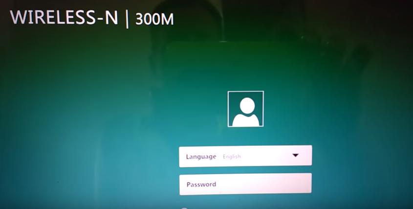 Imagem da tela de login do repetidor wireless-N