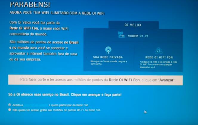 Imagem mostra uma tela de parabéns e diz que o roteador wi-fi está configurado