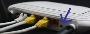 Imagem que mostra o botão de Reset do Roteador de Acesso por IPs um nove dois ponto um meia oito ponto zero ponto um