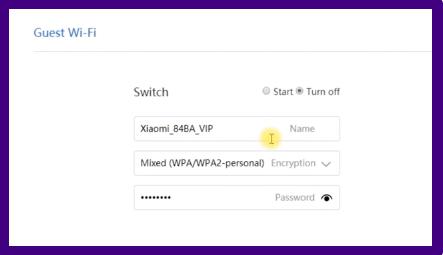 Imagem mostra a opção Guest Wi-Fi para criação de uma rede wi-fi para convidados