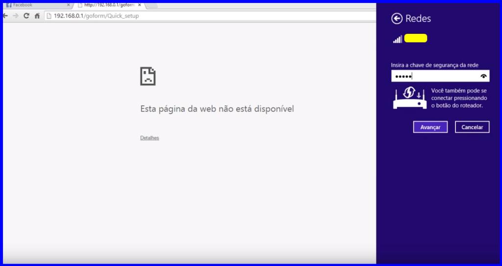 Imagem mostra usuário reconectando-se à rede wifi.
