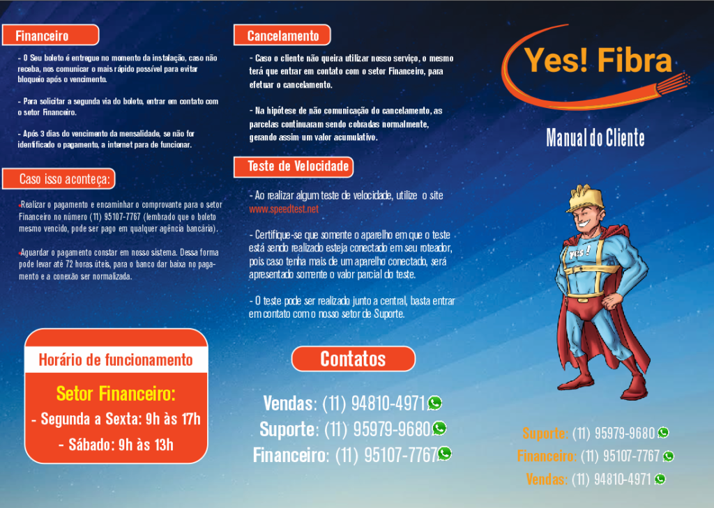 Yes Fibra - Internet