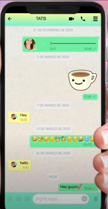 como deixar o whatsapp colorido