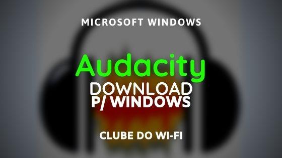 Audacity Atualizado 2020