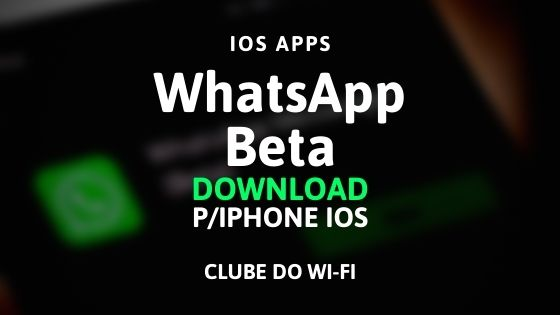 imagem do aplicativo whatsapp beta para download no iphone