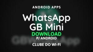 imagem do whatsapp gb mini para download