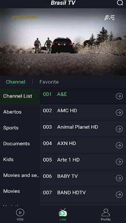 imagem mostrando o app brasil tv new para android