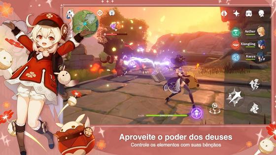 captura de tela do genshin impact para android