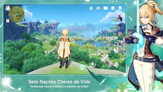 imagem mostrando o personagem do game genshin impact