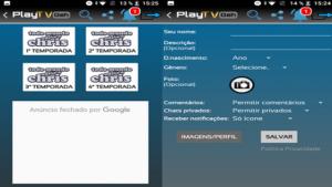 mostrando funções do aplicativo playtv geh