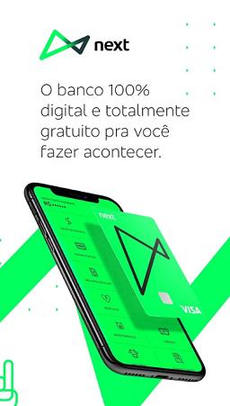 aplicativo do banco next atualizado para iphone e android