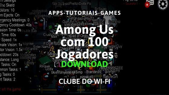jogar among us com 100 jogadores e 10 impostores
