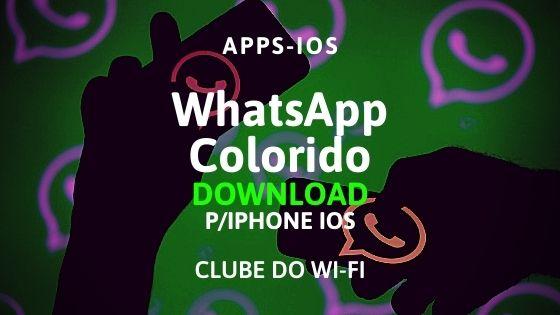 whatsapp colorido para iphone ios