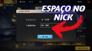 Código Invisível: como colocar espaço no Nick ou Nome do Free Fire?