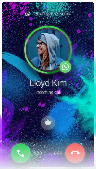 Imagem mostra tela do gb whatsapp com opção de chamada personalizada