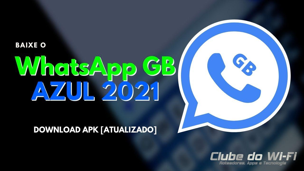 WhatsApp GB Azul 2021
