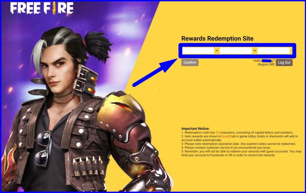 resgatar código FF 2021